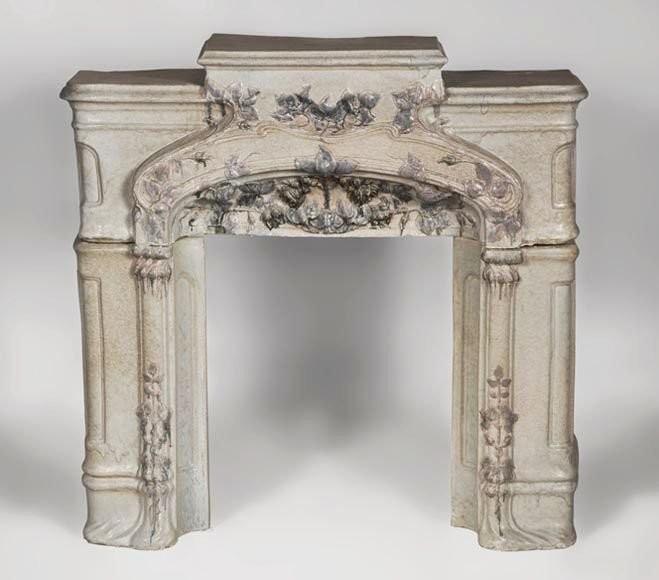 Антикварный керамический камин в стиле Арт-Нуво. 1900 год.
