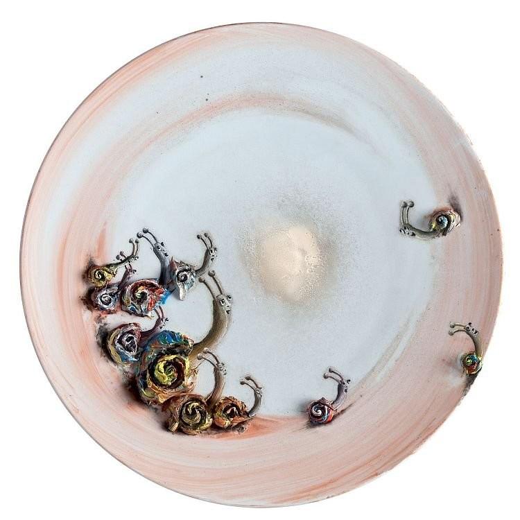 Серия тарелок для мануфактуры Бернардо. Марлен Моке, 2013 год.