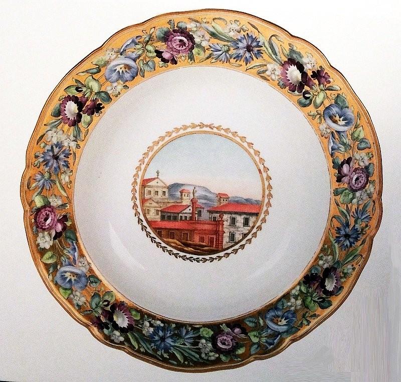 Тарелка из Кабинетного сервиза, 1793 год, Государственный Эрмитаж