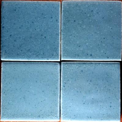 Голубая фасадная майолика