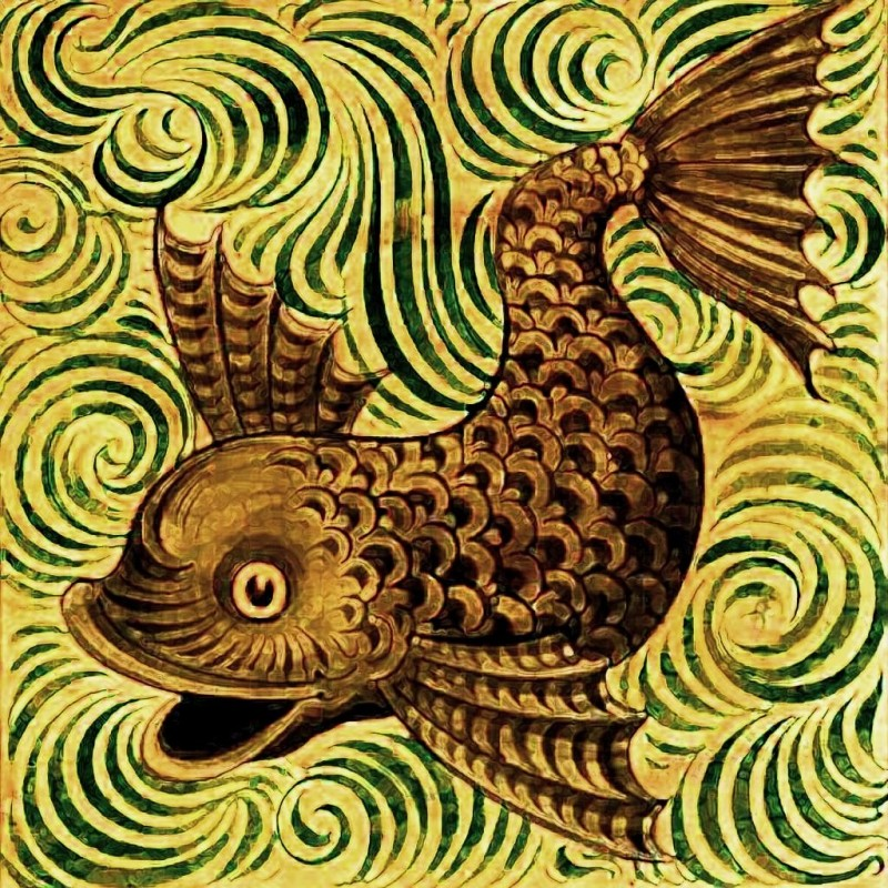 Керамический изразец Уильяма де Моргана в османском стиле