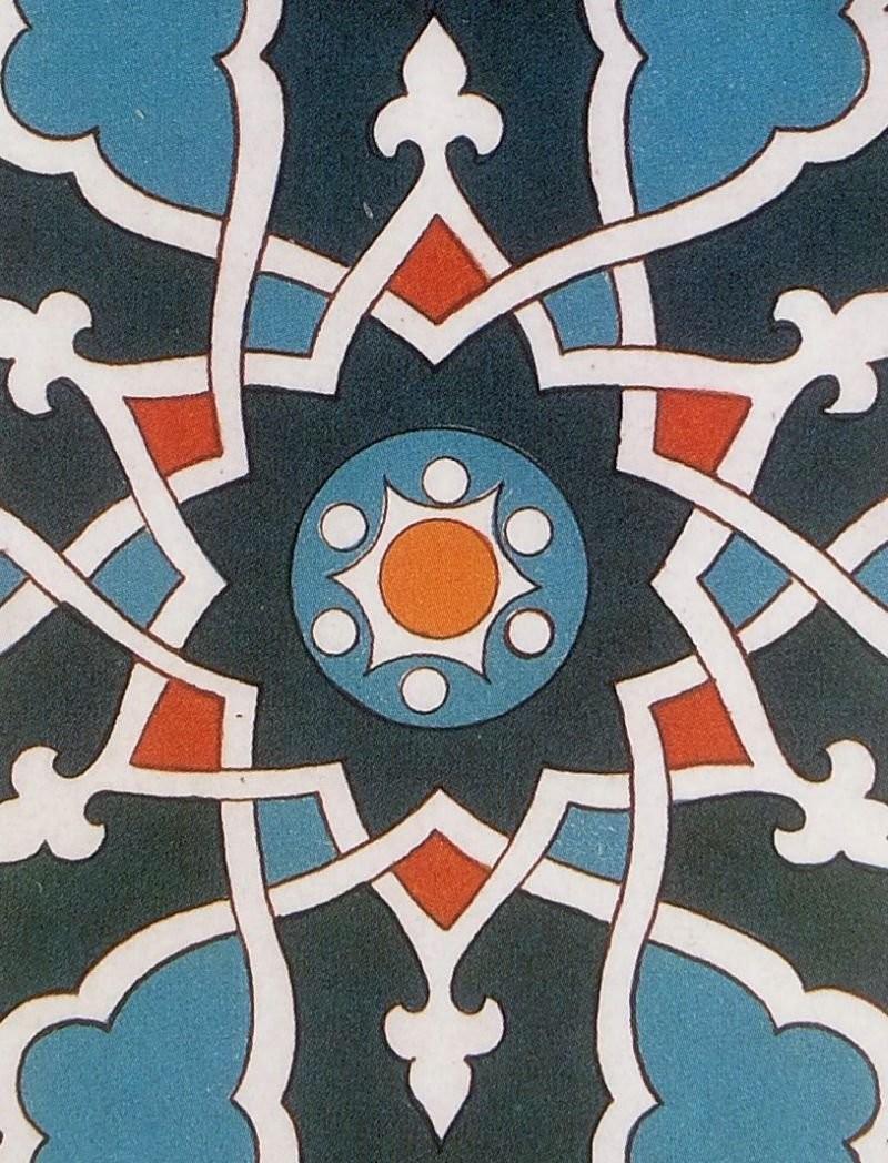 Панно в технике moarraq периода Тамерлана
