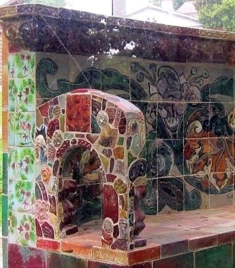 Майоликовая скамейка, созданная Врубелем в Абрамцево