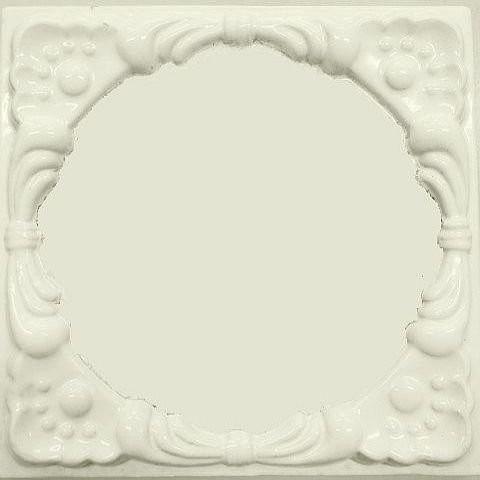 Изразцы серии «Печенье» в белой эмали