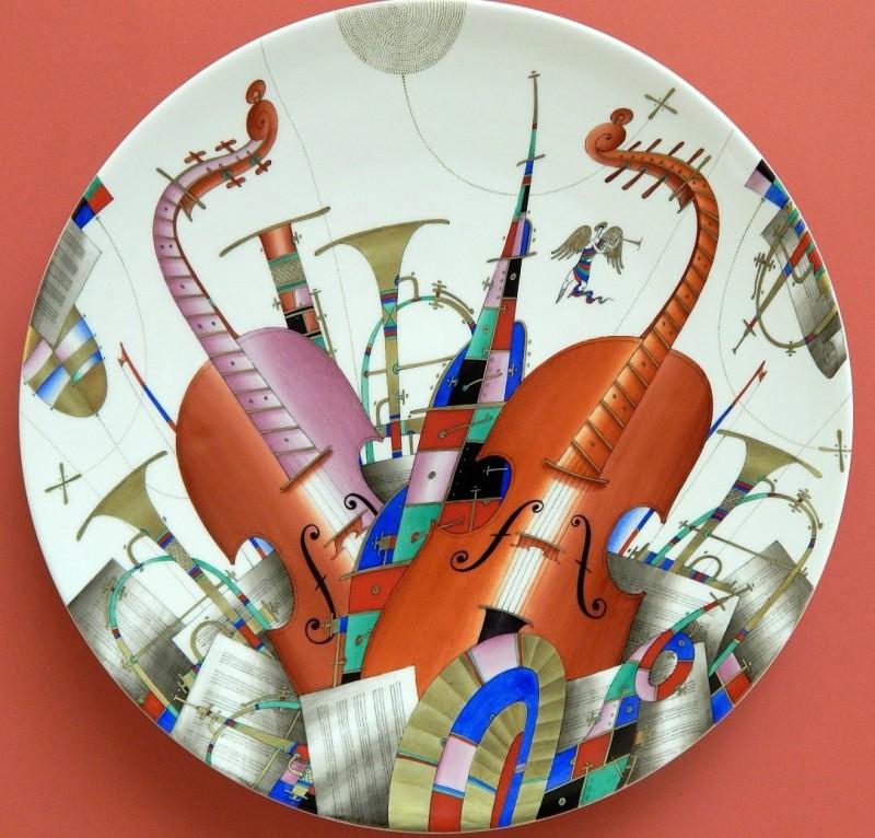 Блюдо из сервиза Ноктюрн, 2001 год, Соколов С. Н.