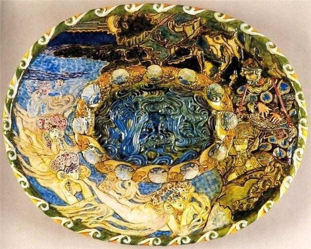 Майоликовая тарелка Врубеля