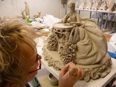 Проработка складок ткани на скульптуре
