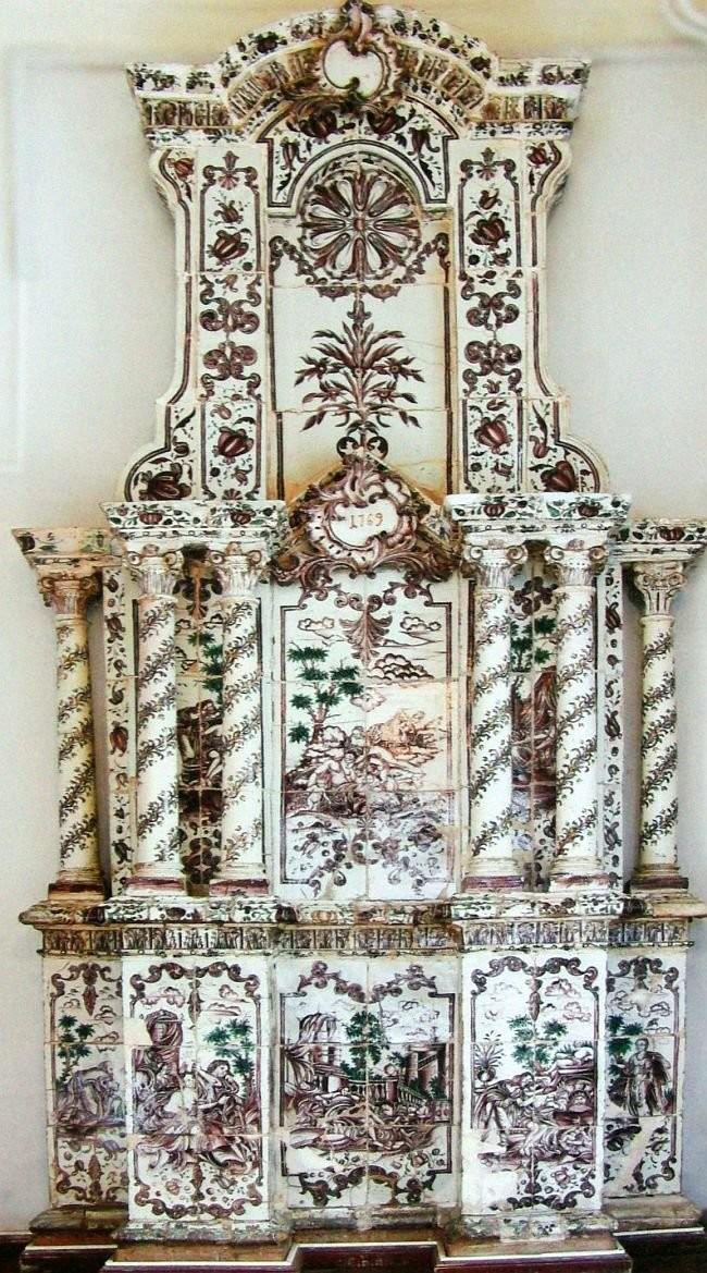 Изразцовая печь архитектора Б.Ф. Растрелли. 1796 год. Калуга