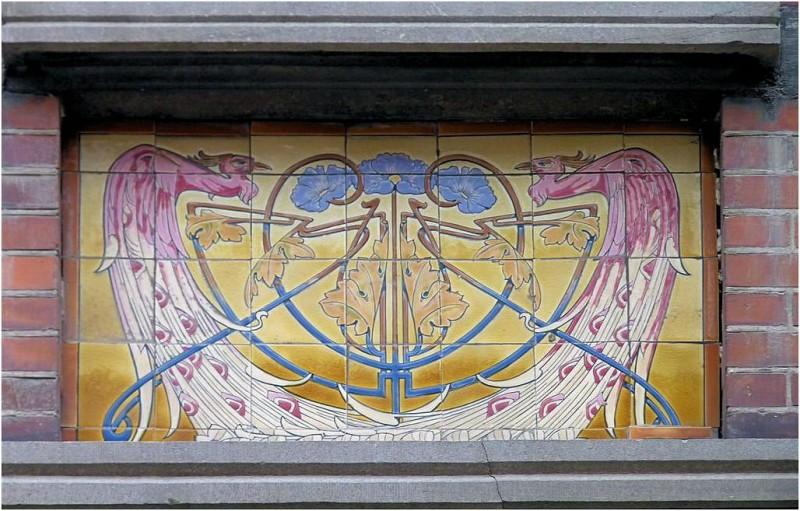 Керамическое панно в Синт-Трёйден в Бельгии