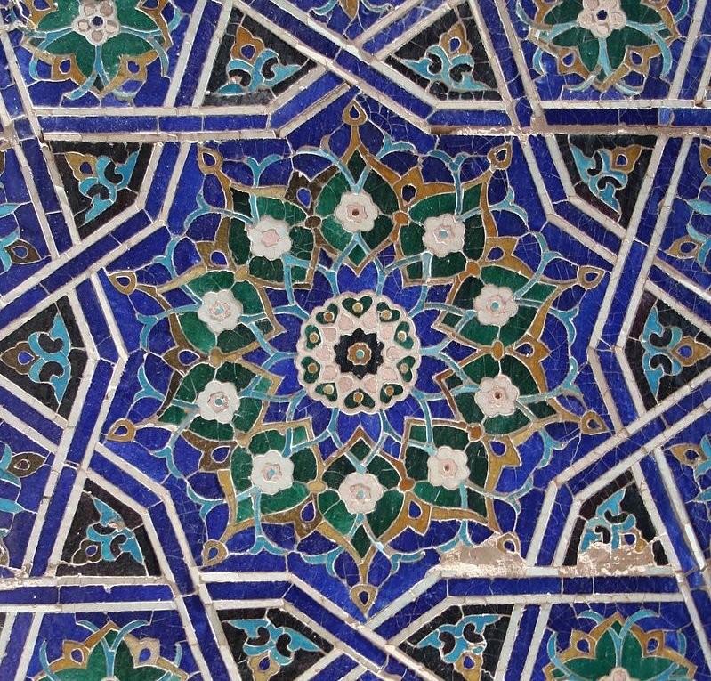Мавзолей Шах-и-Зинда в Самарканде. Cuerda seca