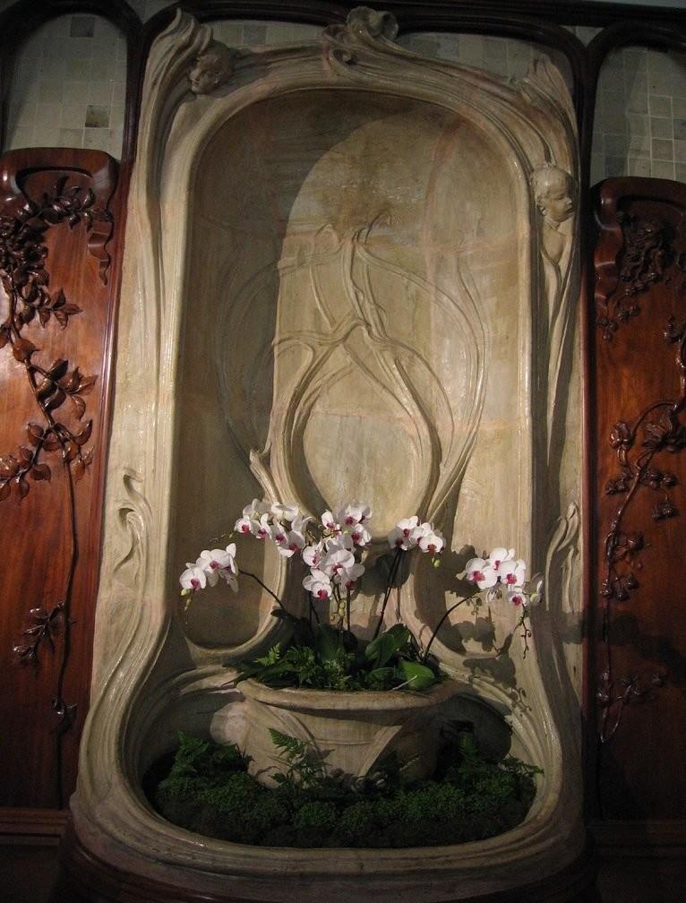 Керамические панно в стиле арт-нуво производства Александра Биго