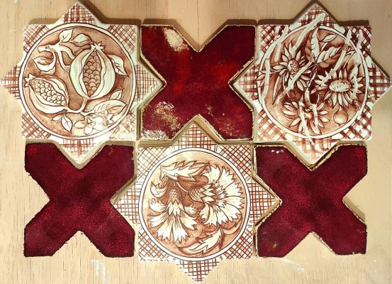 Марокканская плитка с росписью