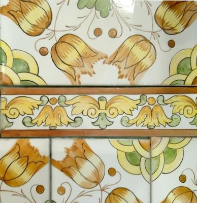 Изразцы, Медитеранская серия, керамическая плитка для облицовки каминов, печей, барбекю