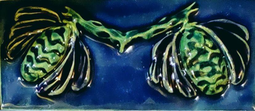 керамический бордюр в стиле арнуво