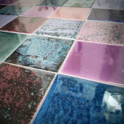 Фасадная морозостойкая плитка в фиолетовой гамме. Аметистовая коллекция фасадной майолики