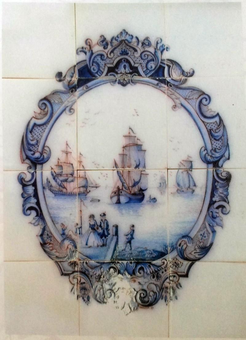Голландское панно на морскую тематику. 1637 год