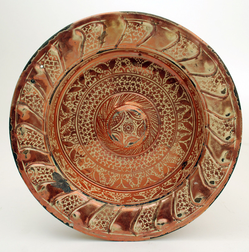 Люстрированная испано-мавританская тарелка, 16 век, Кристи