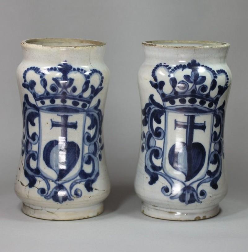 Пара каталонских альбарелло, 1760 год