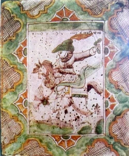 Изразец печной. Суздаль. Середина XVIII века