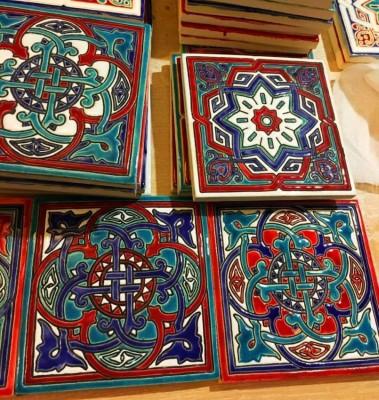 Изразцы Арабески для печки в марокканском стиле