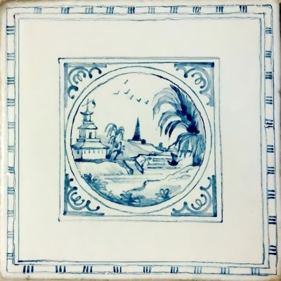 Изразцы Шинуазри, керамическая плитка для облицовки печи, камина, купить в Москве
