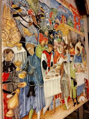 Керамическое панно на стену Часослов