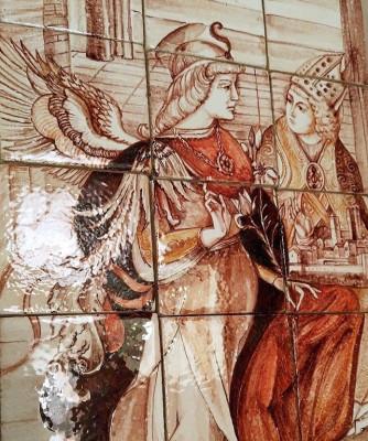 Керамическое панно ручной работы, Венецианское панно