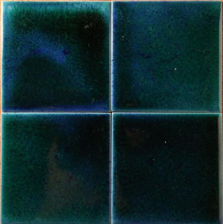 Эффект морской воды в глазури, заплывы глазурей