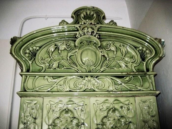Изразцовая печь в стиле модерн во Львове