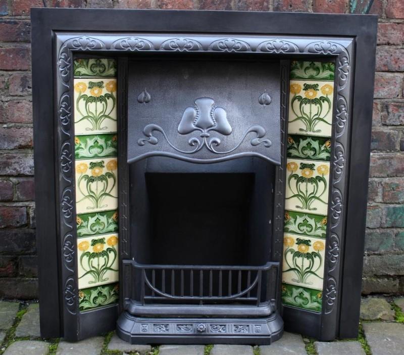 Эдвардианский камин в стиле Арт-нуво