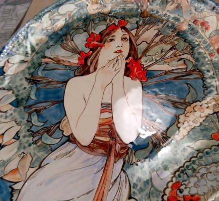 Тарелка Модерн с ручной росписью