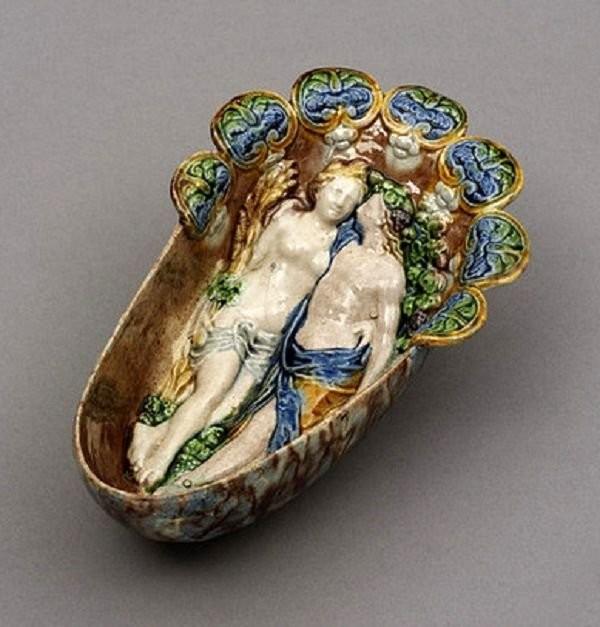 Соусник с аллегорическими сценами. Бернар Палисси. 1550-1580 год