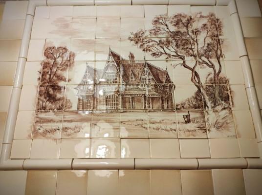 Купить керамическое панно на стену, на фартук кухни. Панно Шале