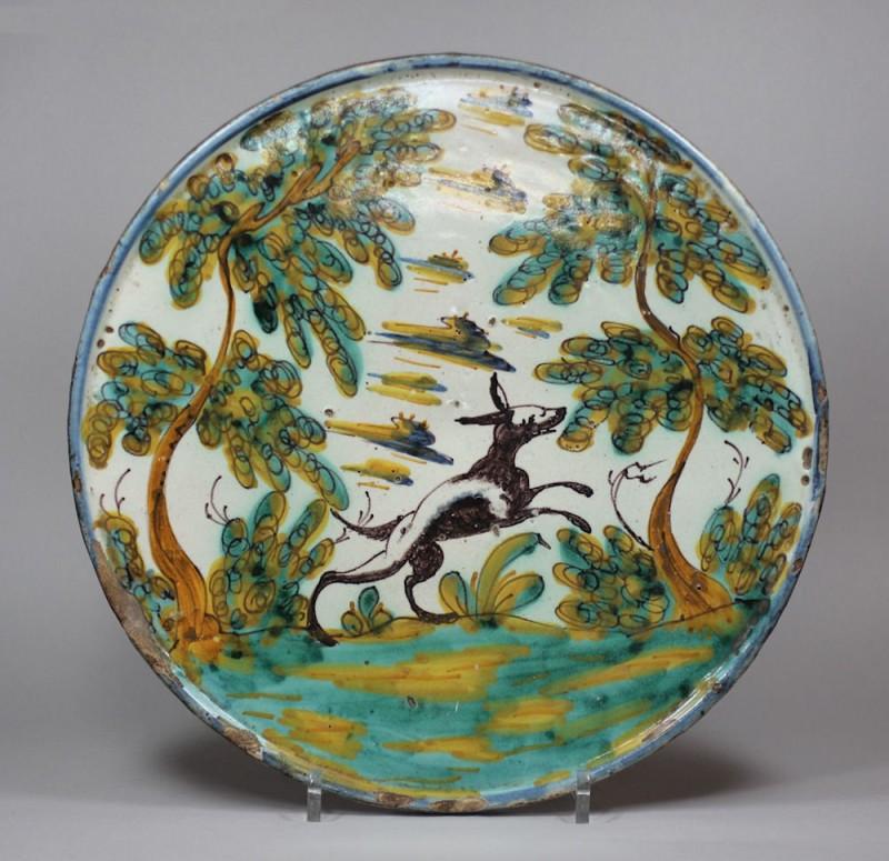 Каталонская тарелка из Талаверы, 17 век