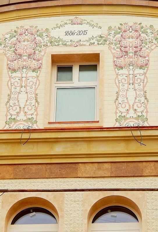 Так выглядел фасад дома в Борисоглебском переулке, облицованный терракотовой плиткой сразу после монтажа в 2015 году