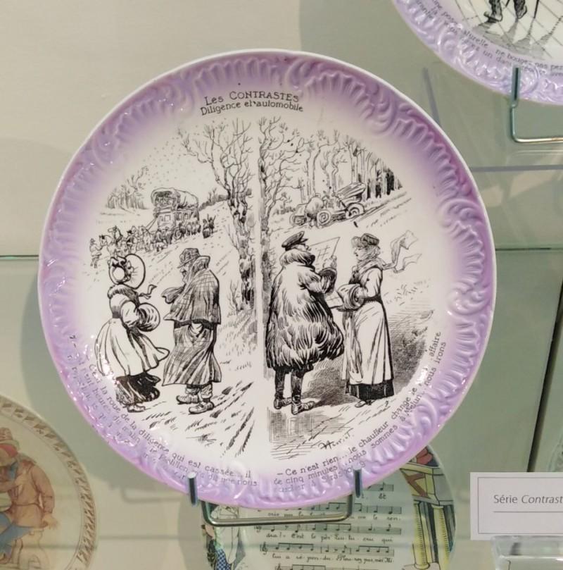 Фаянсовая тарелка с transfer-printed