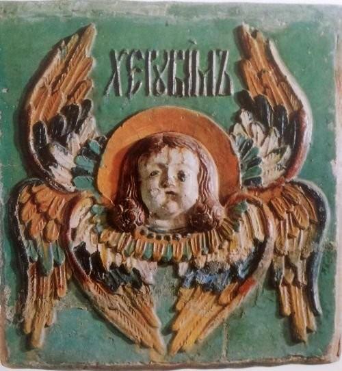 Изразец церкви Николы Явленного на Арбате. Конец XVII века