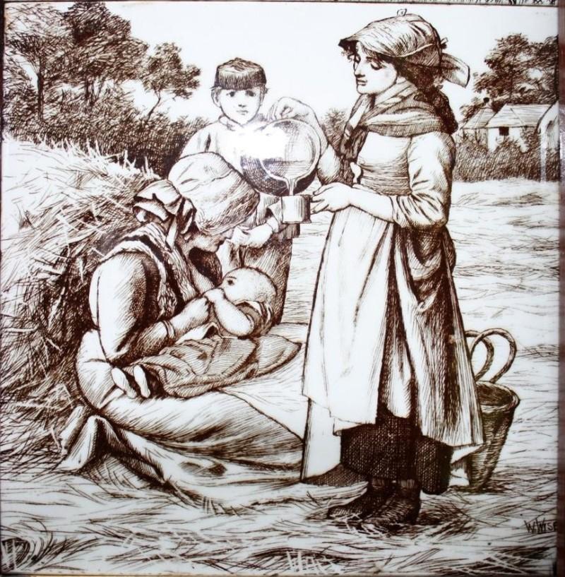 Изразцы производства мануфактуры Минтон, Сельская Жизнь, 1889 год