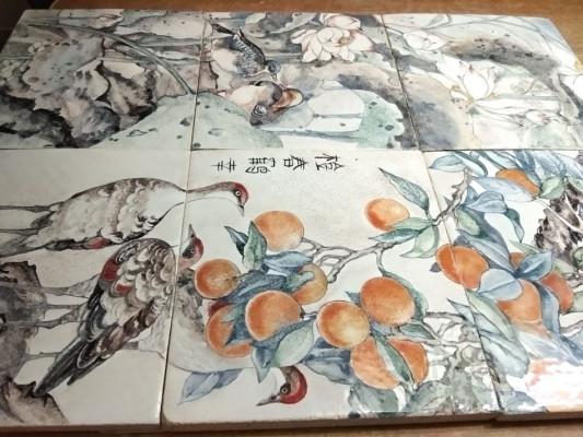 Китайские керамические панно на стену Времена года