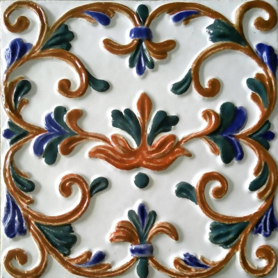 Боярские изразцы, Облицовочная керамическая плитка для печей и каминов