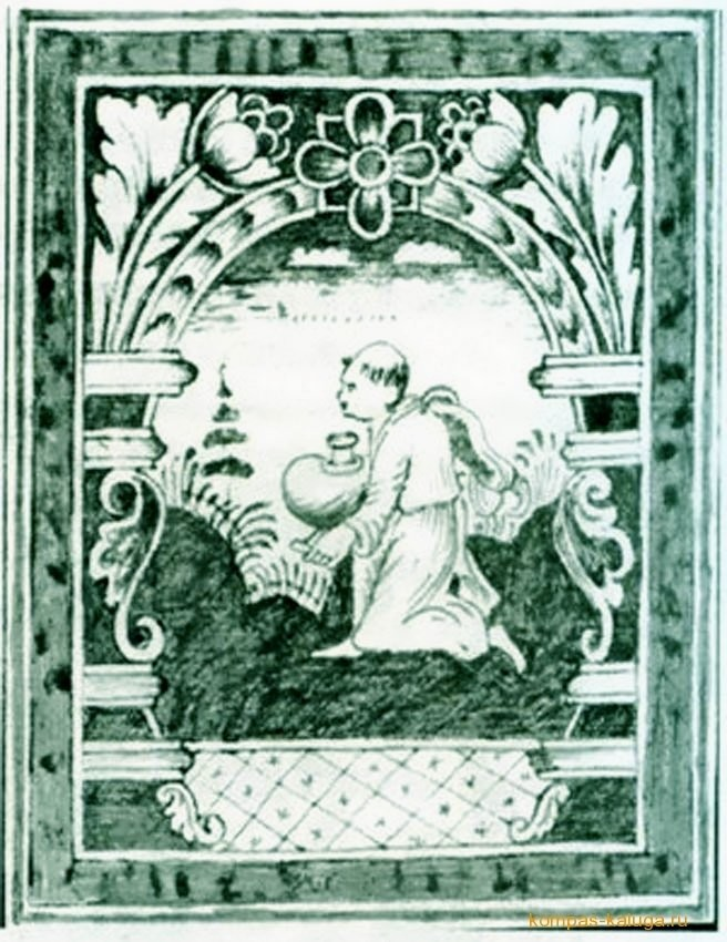 Калужский изразец с религиозным сюжетом