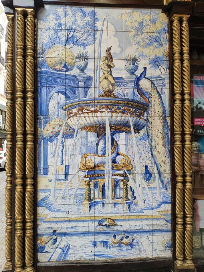 Керамическое панно паба La fontana de Oro