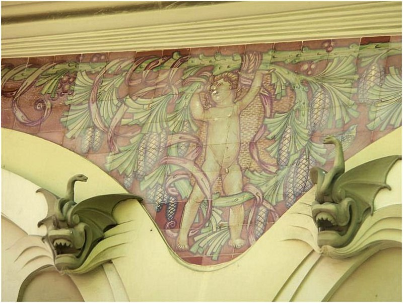 Керамическое панно на вилле Ламперди Джиано, Флоренция