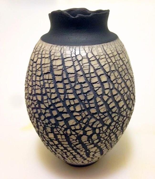 Керамическая ваза раку Алекса Лонга