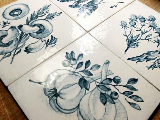 Изразцы Прованс, Керамическая плитка для облицовки фартука кухни, печи или камина