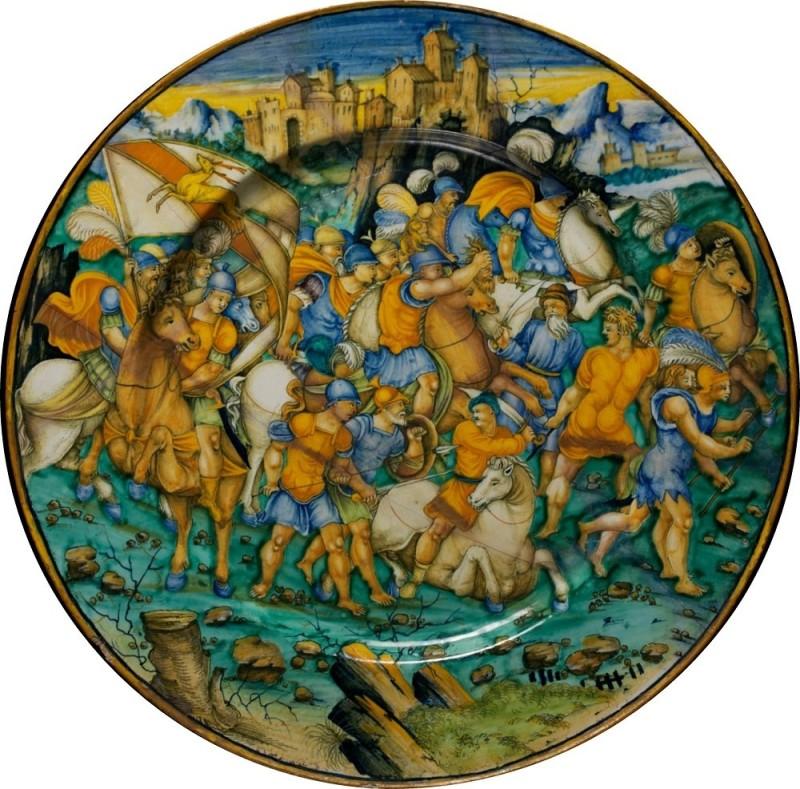 Бальдассар Манара, Битва римлян