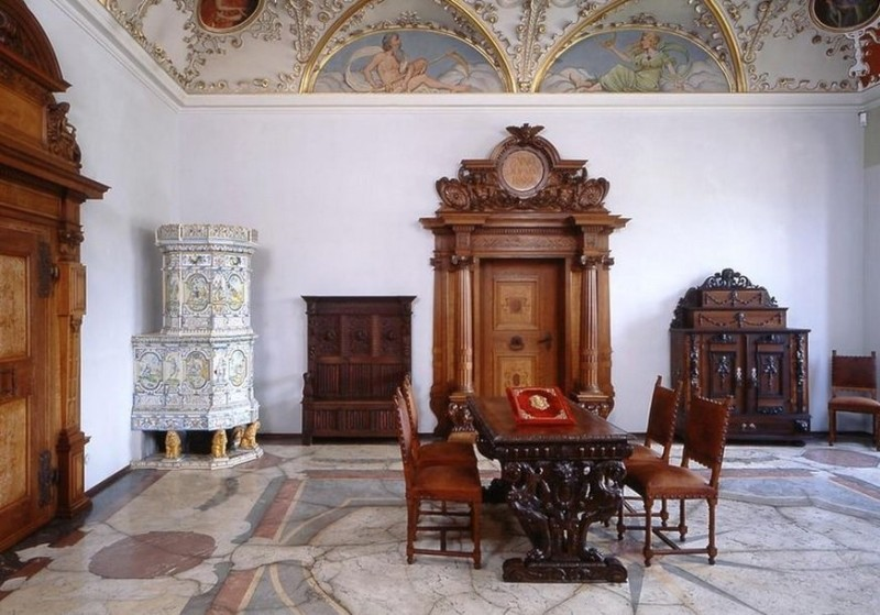 Изразцовая печь в замке Гейдельберг
