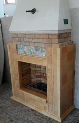 Карамельный камин