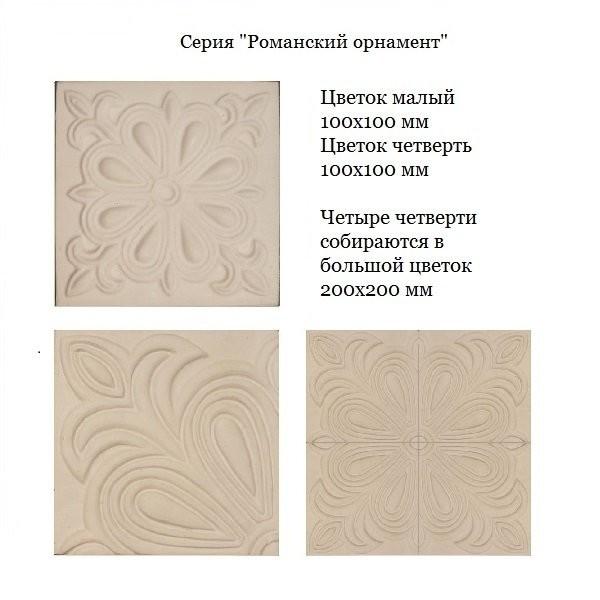 Изразцы Романский орнамент