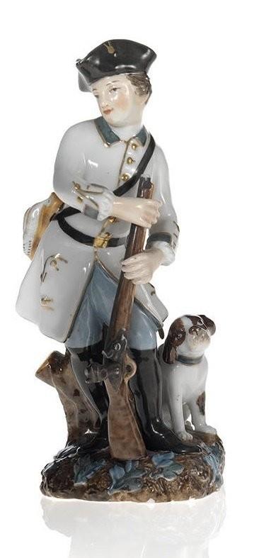 Молодой охртник с собакой. Попов. Первая четверть XIX века